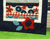 Americana Style Table Runner - Red, White and Blue. Great for 4th of July