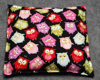 Microwaveable Corn Heating Pad -- Sleepy Owls, Child Snuggler 9x9