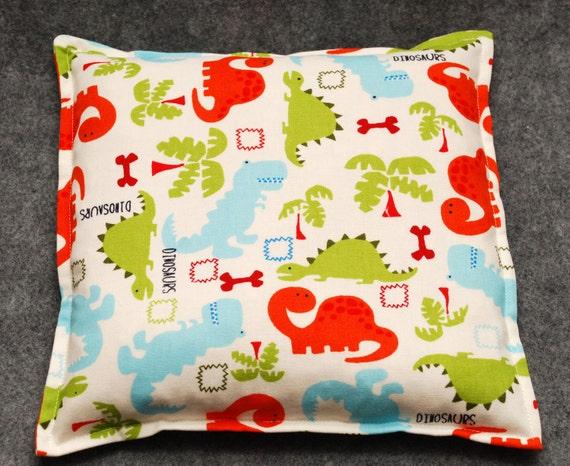 Corn Bag Heating Pad -- Dinosaur Party, Child Snuggler 9x9 - LAST ONE