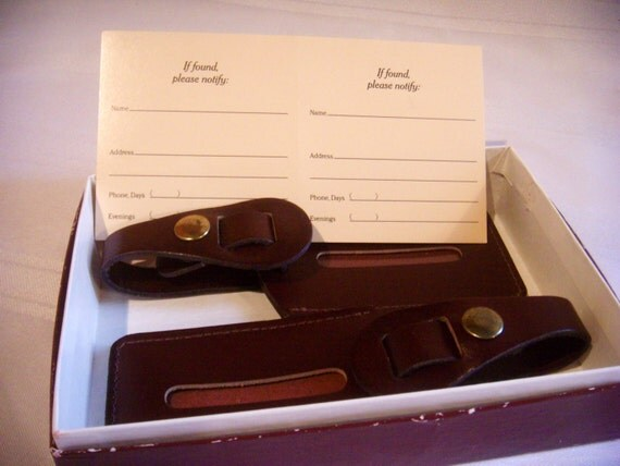 Vintage Leather Luggage Tags