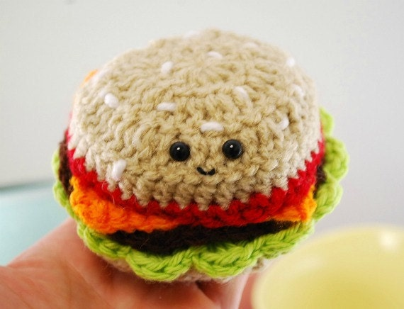 Amigurumi Fast Food : CROCHET PATTERN- Amigurumi Fast Food Trio-crochet ...