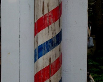 Barber Pole - Hand Carved - Wooden Balls - Dentist, Doctor, Surgeon - Handmade - Barbershop - Barbershop - Barber Shop Supplies