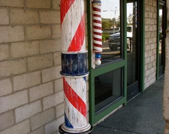 Handcrafted Barber Pole - The Edward Hopper Pole - Barbershop Pole - Handmade - Barber Shop Supplies - Men - Man - Office