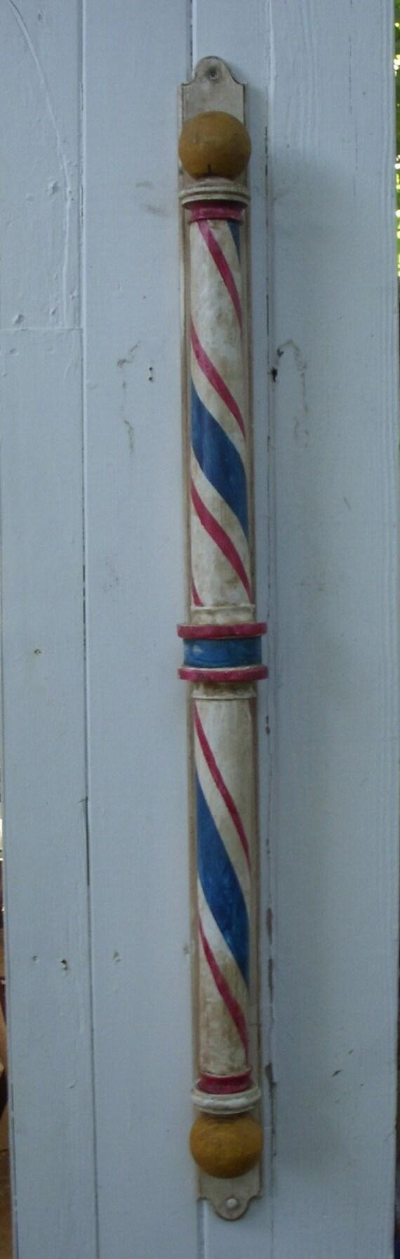 Handmade - Wood Barber Pole - Handcrafted - Circa Replica 1890 Barber Shop Pole - Wooden - dentist, doctor, surgeon, gift idea
