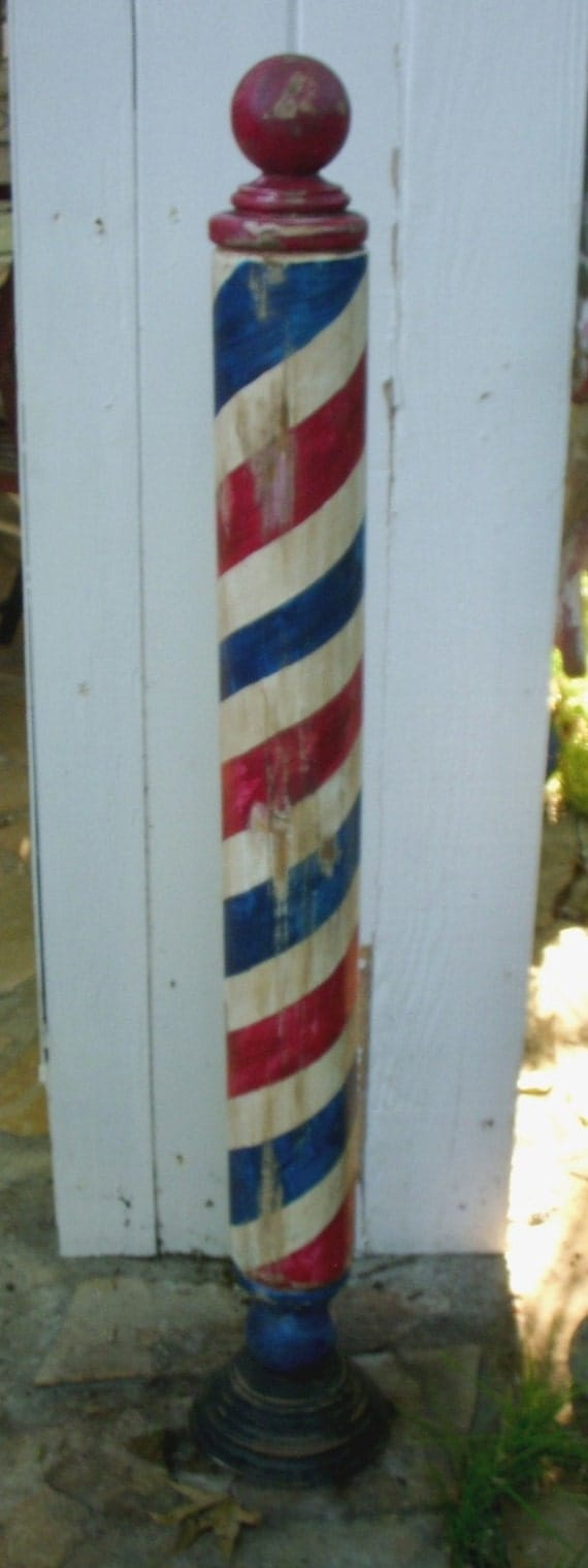 Antique Replica Handcrafted Barber Pole by Mike's Barber Poles