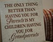 Grandparents Tile - Vinyl