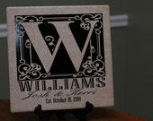 Family Name, Wedding Date Tile - Vinyl
