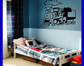 Boys Room Train Wall Decal, Sticker