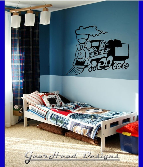 Boys Room Train Wall Decal Sticker