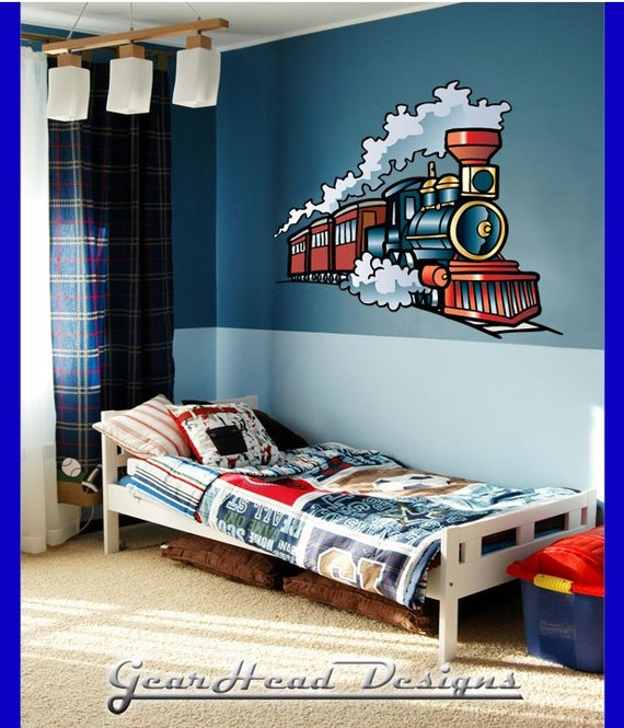 Train Cartoon Wall Decal By GearheadDesigns On Etsy