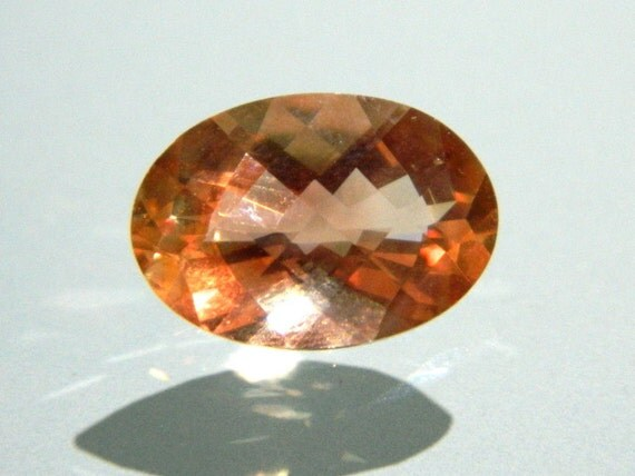 BEYOND GORGEOUS one of a kind rare large focal Oregon Sunstone pink schiller faceted checker cut cabochon cab 13mm x 9mm