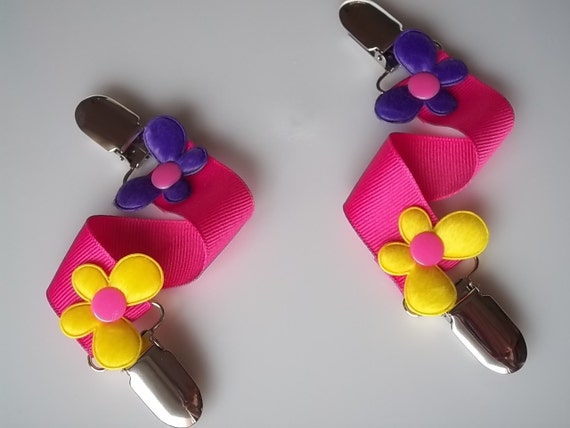 Yellow Purple Butterflys and Pink Ribbon   MITTENS