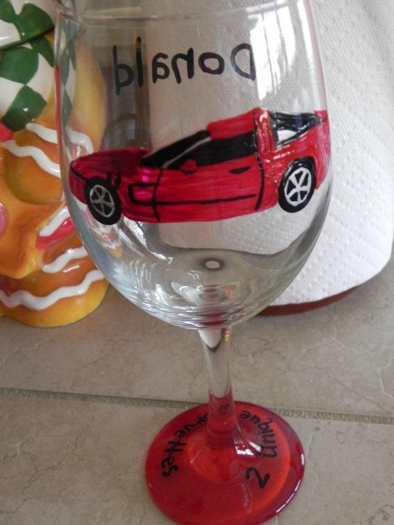 Custom Car Wine Glass