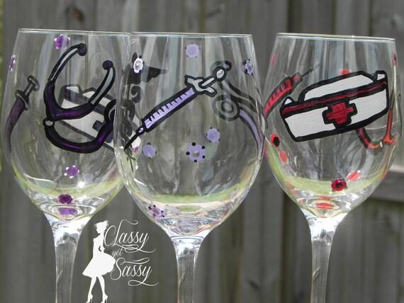 Dishwasher Safe Nurse's Best Friend Wine Glass