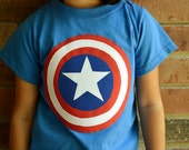 Captain America Inspired Appliqued Tshirt or Onesie