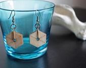 Hexagon Geometric Wood Earrings