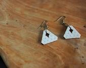 Triangle of Six Geometric Wood Earrings