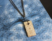 Star Tesselation Grid Geometric Wood Necklace