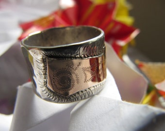 Sale Silver and gold Ring