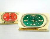 GREEN - Colorful Chinese Late 60s, early 70s Alarm Clock