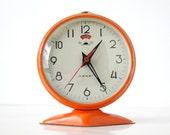 MINI - Vintage Orange Round Mechanical Alarm Clock
