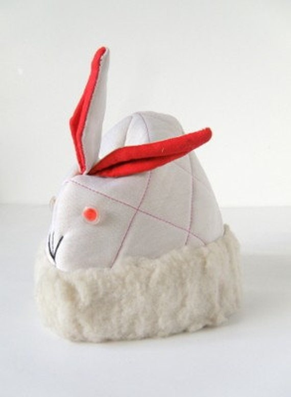 HALF PRICE RABBIT - Kids Vintage Little White Bunny Hat