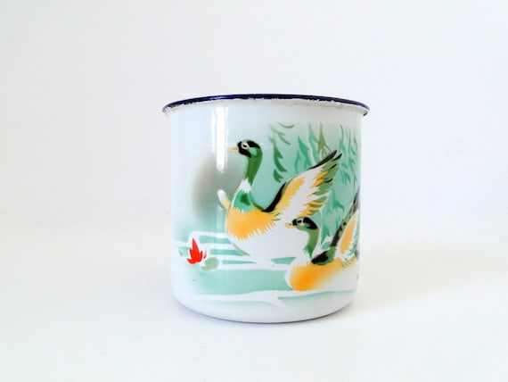 WILD DUCKS - 1971's Enamel Chinese Cup
