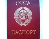 unique document for your collection ....USSR passport ID of the country that no longer exists on the map ...... perfect condition