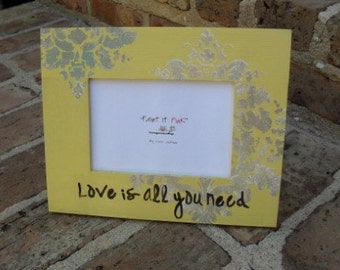 Hand Painted Wood Picture Frame