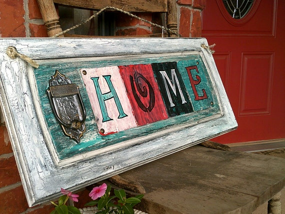 Rustic Distressed Wooden Home Sign