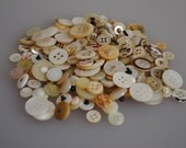 Vintage shell buttons - small, medium & large 140g