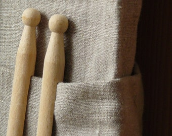 ECO FRIENDLY Natural burlap linen fabric with softening 2M