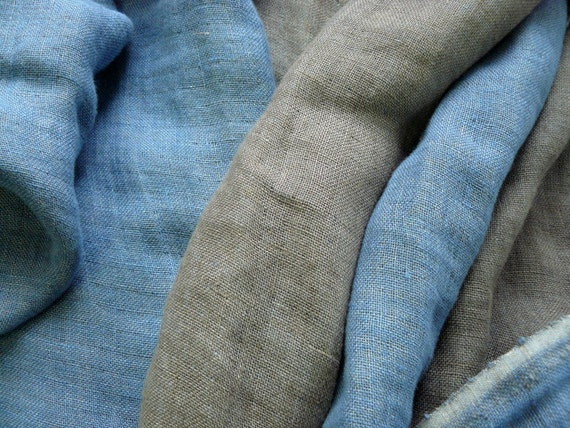 Fabric LINEN  DOUBLE face with softening