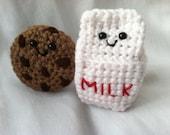 Amigurumi Milk and Cookie Plushies