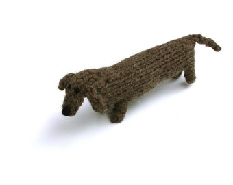 L-o-n-g hand knitted Dachshund type sausage dog
