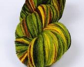 KAUNI 2ply Wool Yarn, Sport weight, Color ev, High-Quality, Green Yellow Brown Fall Autumn, FREE SHIPPING Worldwide