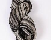 Kauni Wool Yarn Effektgarn Color EC, Self-Striping Black White Gradient, 100% Wool 2ply