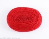 Thin Wool Pencil Roving/Pre-Yarn, Spinning, Felting or Knitting Fiber, Red FREE SHIPPING WORLDWIDE