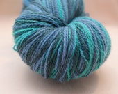 Kauni Wool Yarn, Self Striping, Fingering, 2ply, Seafoam Blue Green Turquoise Lilac Grey
