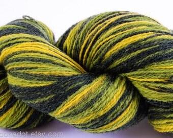 Kauni Wool Yarn Color EK, Self Striping, Green Yellow Gradient