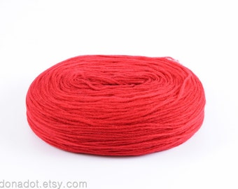 Thin Wool Pencil Roving/Pre-Yarn, Spinning, Felting or Knitting Fiber, Red