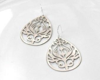 Art Nouveau Earrings - silver plated