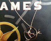The Hunger Games Gold Mockingjay Pin Wire Necklace - Katniss Everdeen