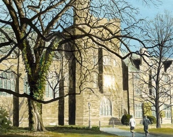 Winter Morning Run Around Princeton Campus