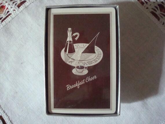 Vintage Breakfast Cheer Playing Cards