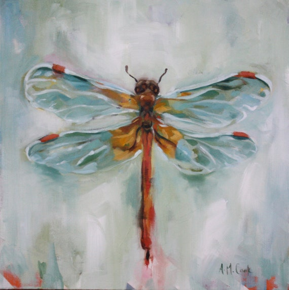 Items Similar To Insect Art, Dragonfly Painting ORIGINAL