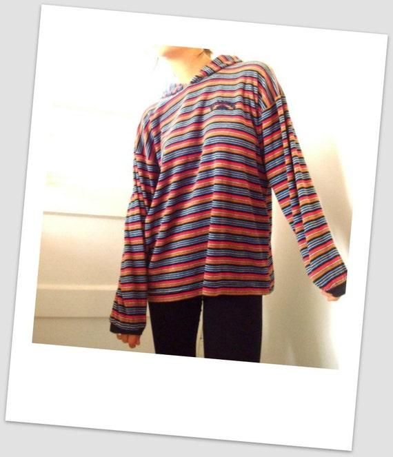 VINTAGE BILLABONG SHIRT Sweater Top Velour Beach Tunic