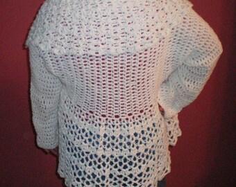 Lovely Lacy Crochet Sweater - Item CBJ531