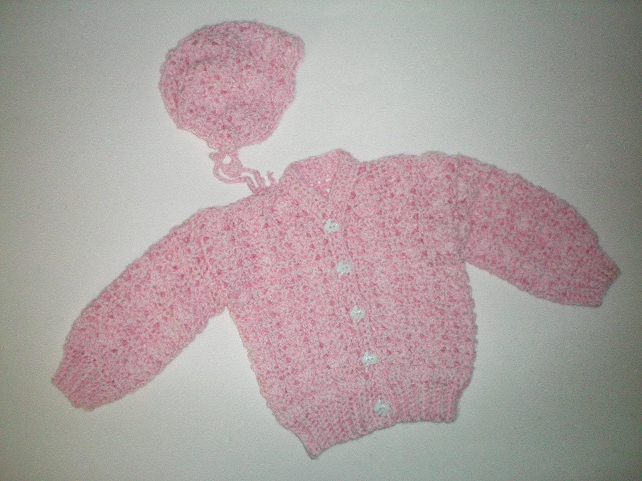 Shell Stitch Crochet Sweater with Hat Item CBJ601