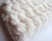Ready To Mail Crochet White Newborn Beanie Hat Soft and Fluffy